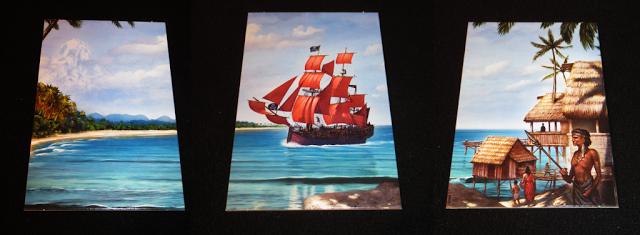 Tableros de Isla, Barco Pirata y Poblado Indígena