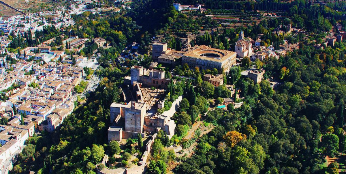 Vista aérea de la Alhambra