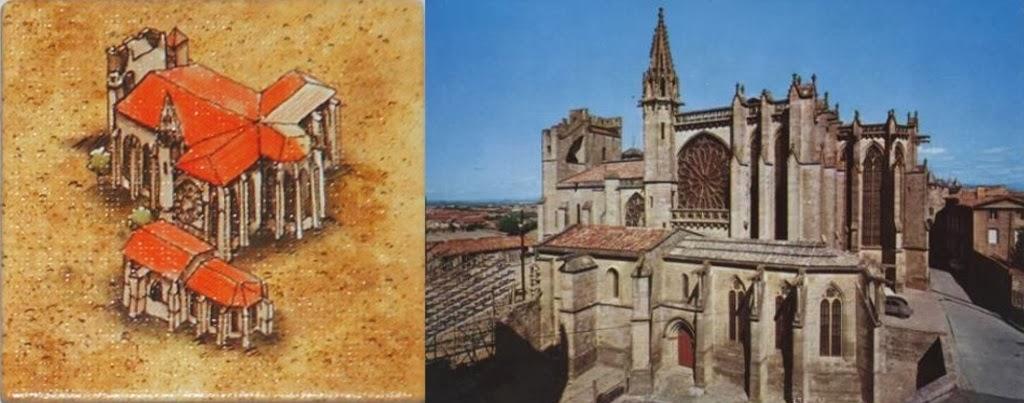 Loseta de Catedral del juego y la Basílica de Saint-Nazare