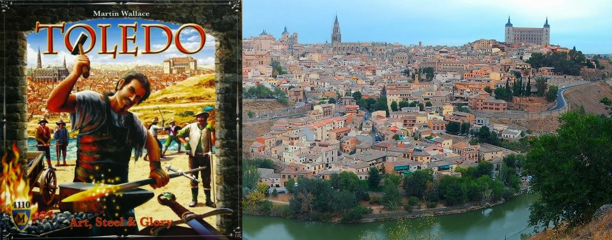 Portada de Toledo de Martin Wallace - Panorámica de Toledo