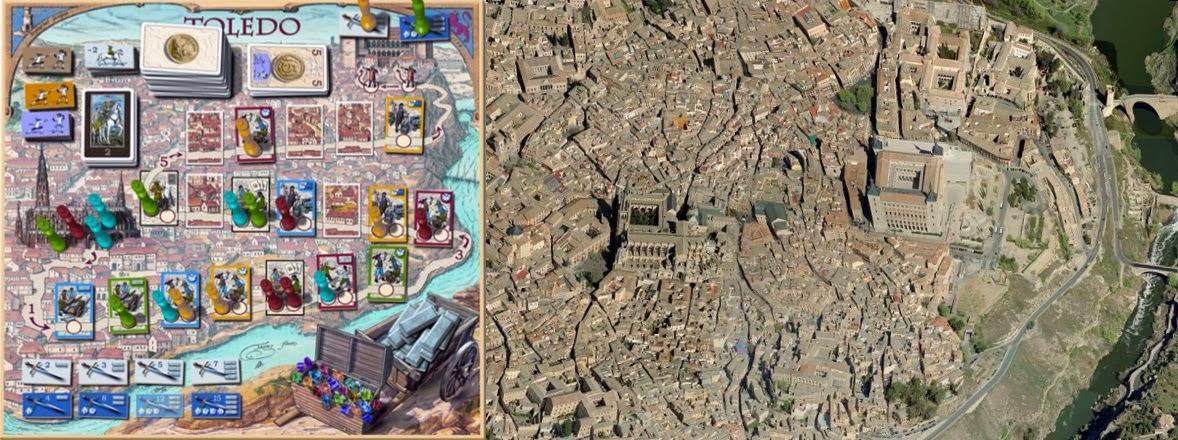 Tablero de Toledo de Martin Wallace - Vista aérea de Toledo