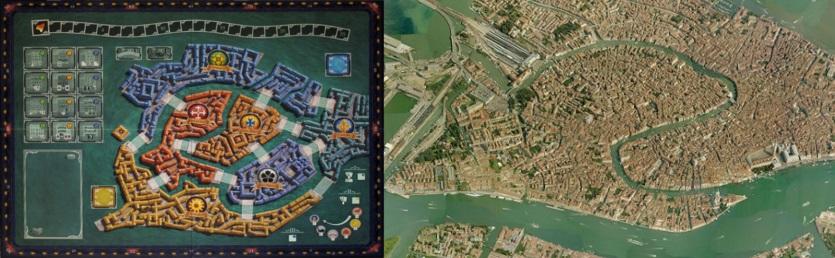 Tablero de Rialto - Vista aérea de Venecia