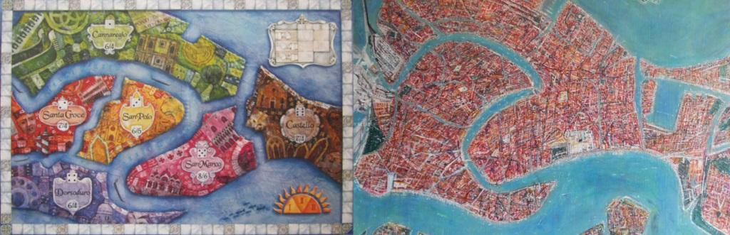 Tablero de San Marco - Representación aérea de Venecia
