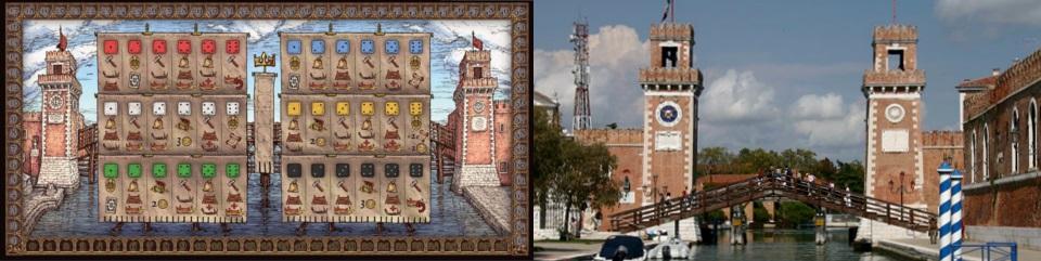 Tablero de The Doge Ship - Arsenal de Venecia