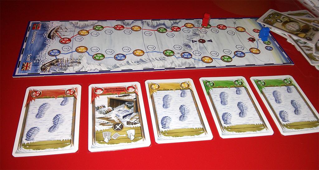 Llegada al polo sur in extremis, y con solo 5 cartas