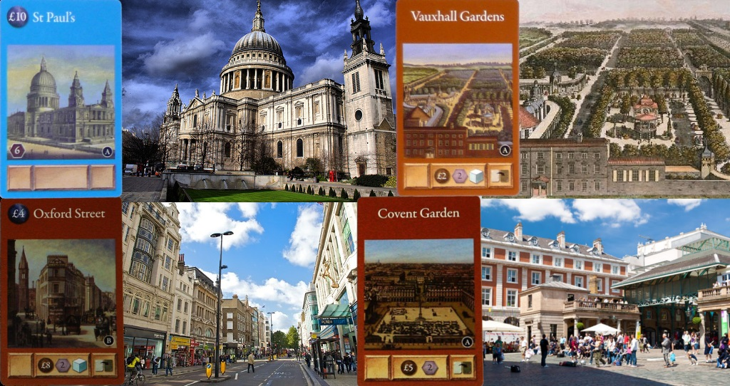 Cartas de London - Catedral de San Pablo - Vauxhall Gardens - Oxford Street - Covent Garden
