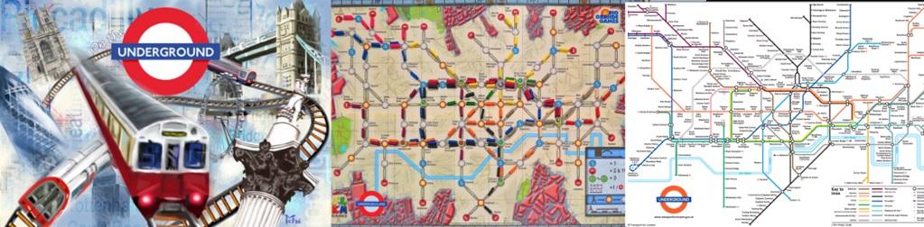 Portada y Tablero de On the Underground - Mapa de Lineas de Metro de Londres