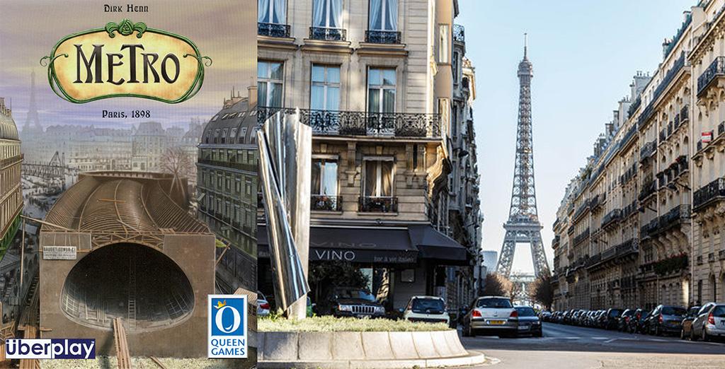 Portada de Metro - Torre Eiffel desde el interior de una calle parisina