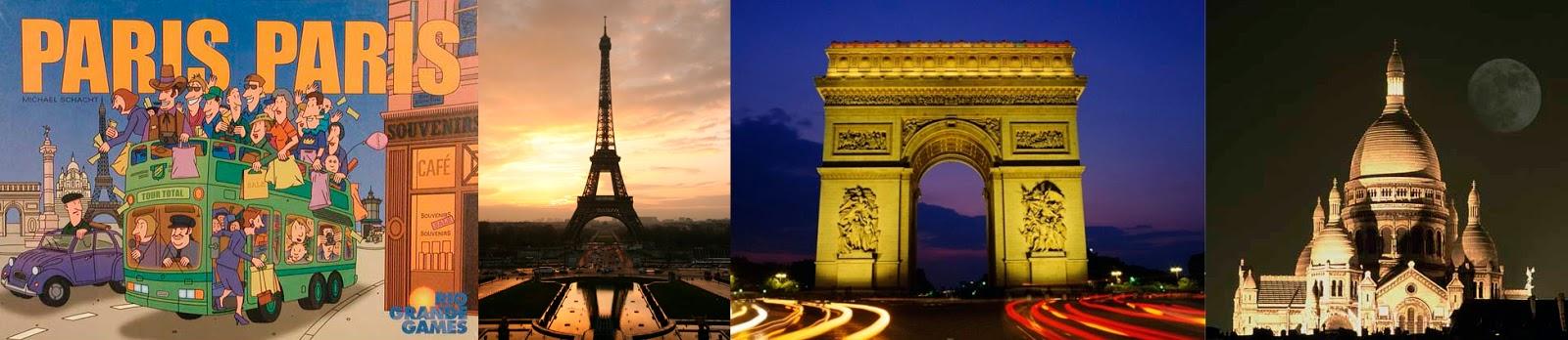 Portada de Paris, Paris - Torre Eiffel  - Arco del triunfo - Basílica del Sagrado Corazón