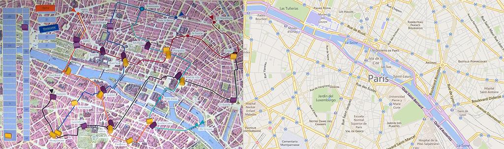 Tablero de Paris, Paris - Mapa del centro de París