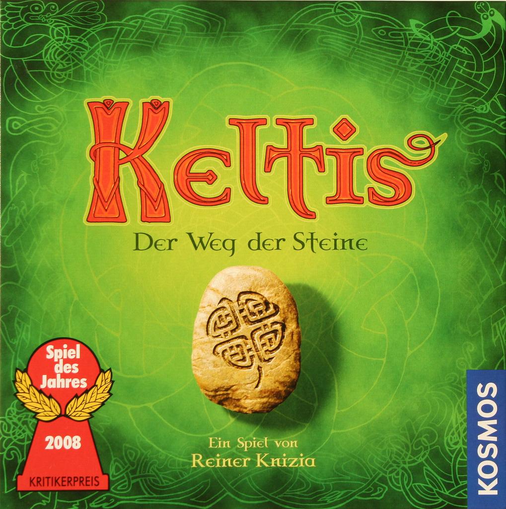 Pedrusco con trébol sobre símbolo celta, Keltis en estado puro