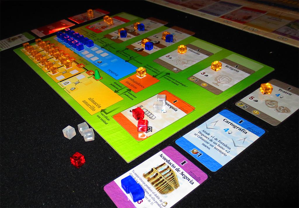 Detalle del tablero de jugador