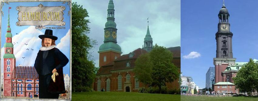 Portada de Hamburgum - Iglesia de la Sta. Trinidad de Altona - Iglesia de San Miguel