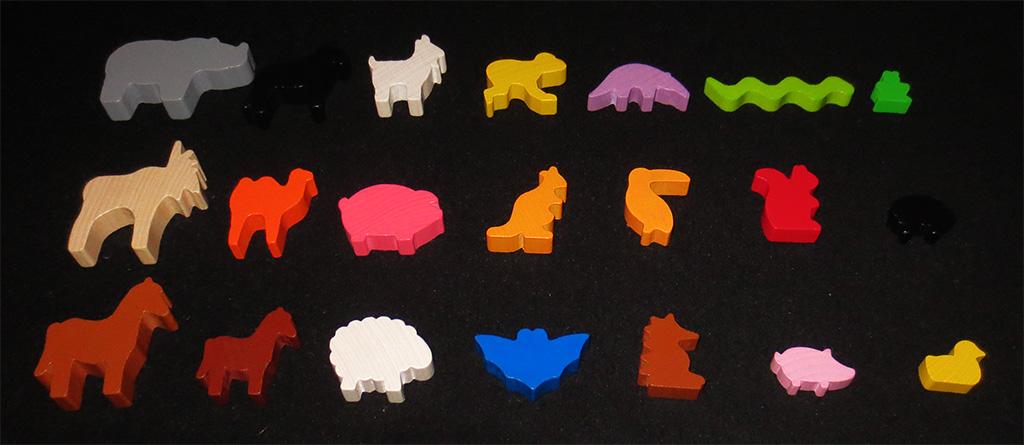 Las piezas de animales