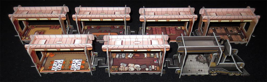 Vagones y Locomotora