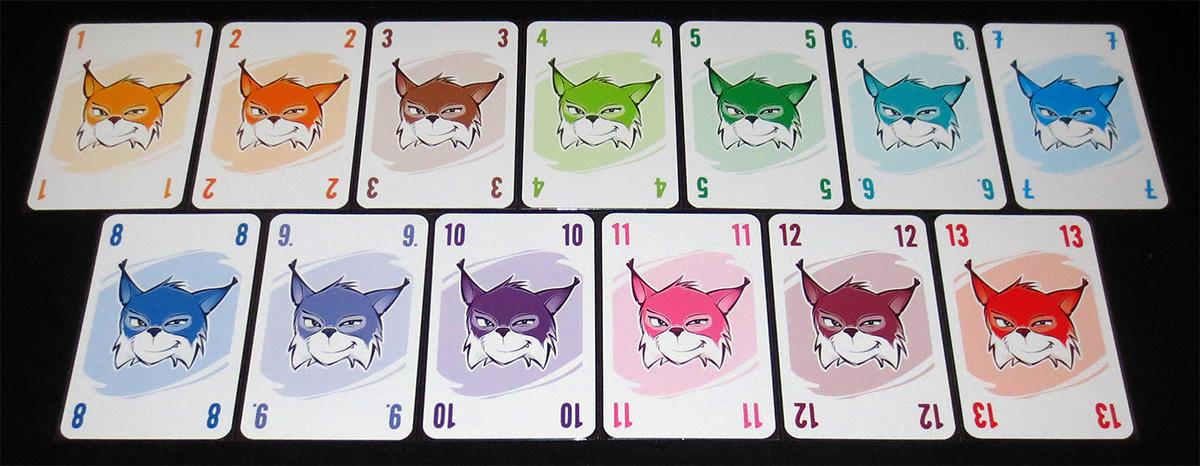 Los distintos números presentes en las cartas