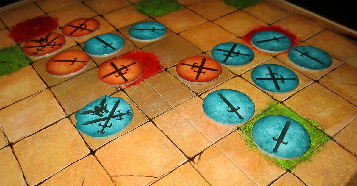 Detalle de piezas sobre el tablero