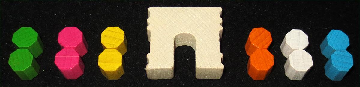 Marcadores de rondel-mancala y Arco de Trajano