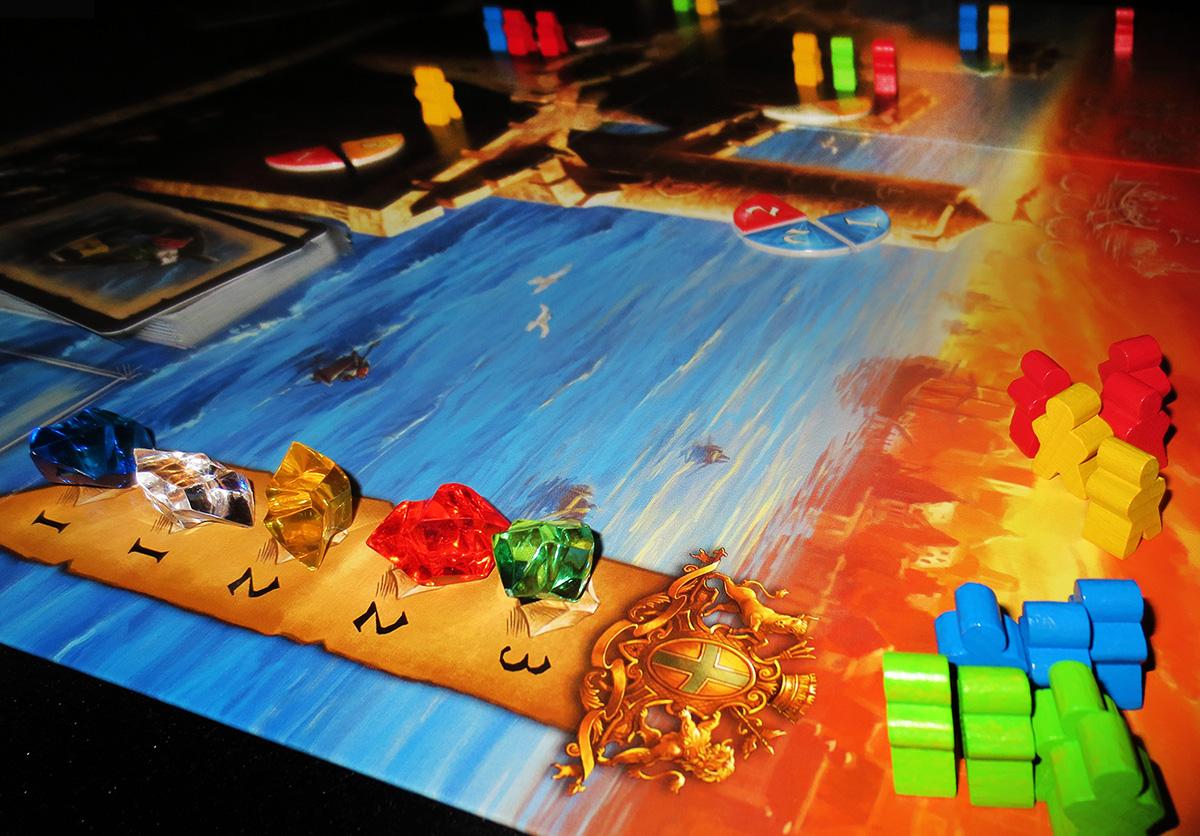 Detalle del tablero en juego