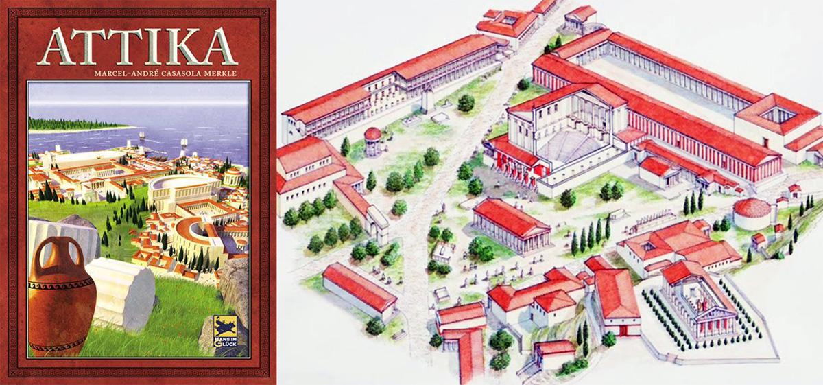 Portada de Attika - Ilustración del Ágora de Atenas