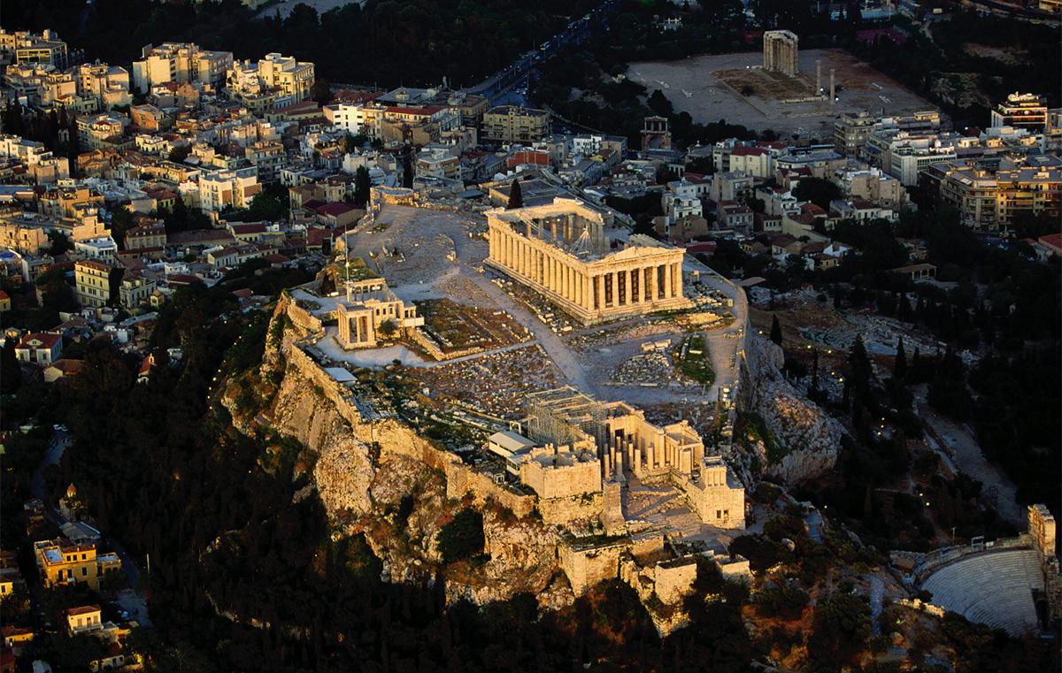 Vistea aérea de Atenas