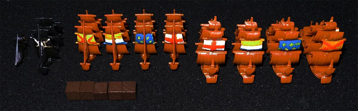 Barcos de Capitanes No Jugador y Cubos de Estado