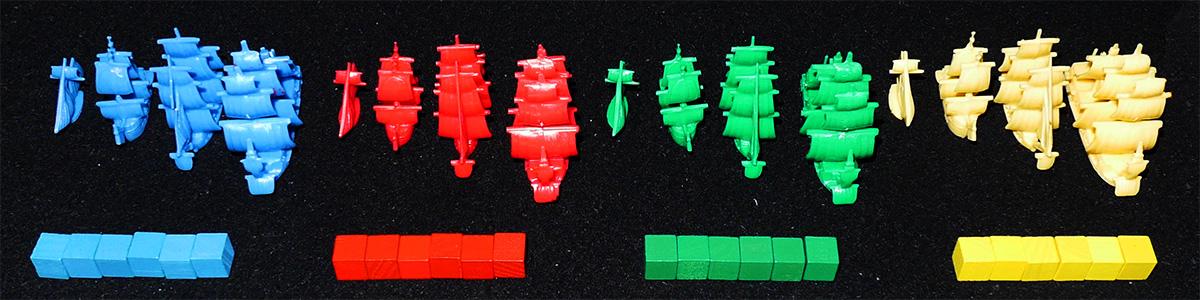 Barcos y Cubos de Jugadores