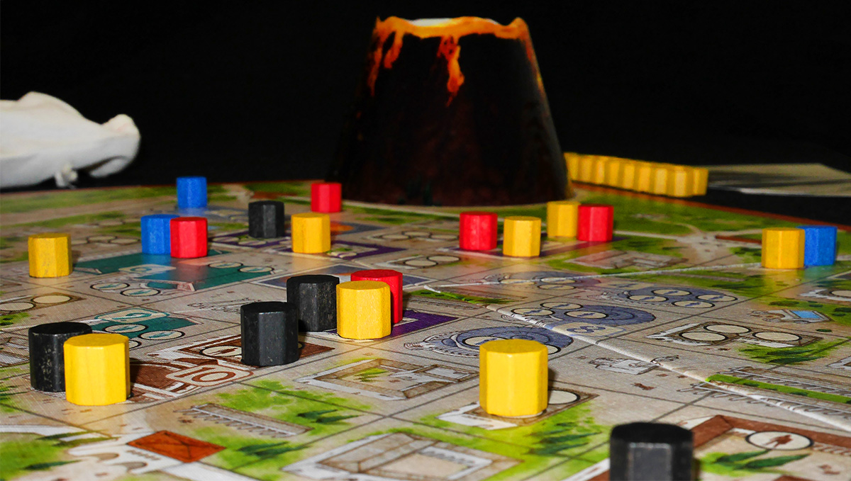 Detalle Ciudad con Volcán