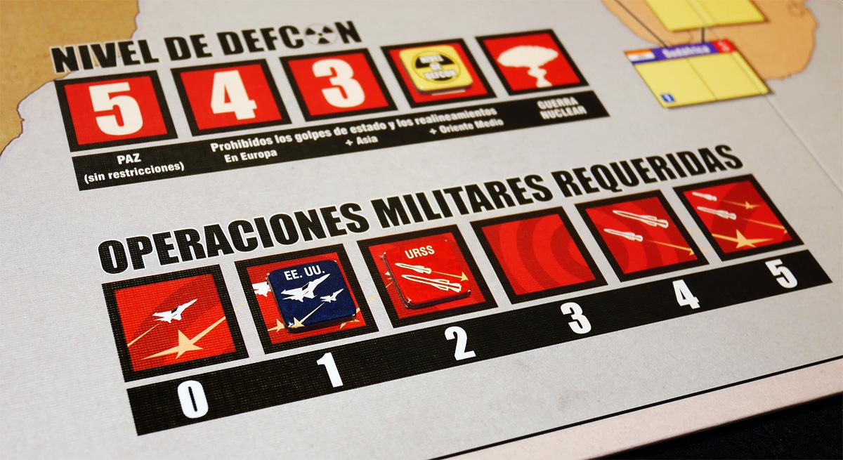 Detalle de Nivel de Defcon y Operaciones Militares