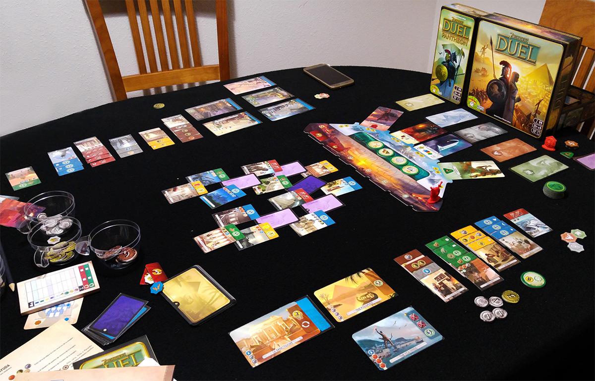 Recibiendo palos desde el primer turno (7 Wonders Duel + Pantheon)