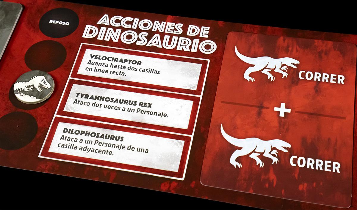 Detalle Tablero Dinosaurio